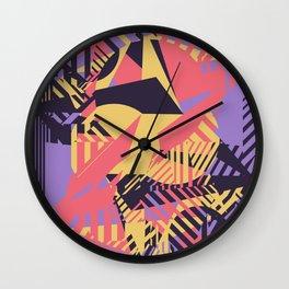Dazzle Camo #03 - Purple & Yellow Wall Clock