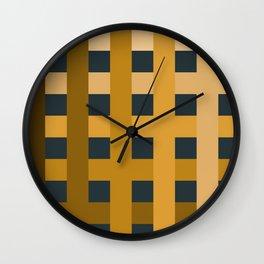 Gradient Plaid Wall Clock