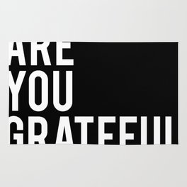 What are you grateful for? Rug