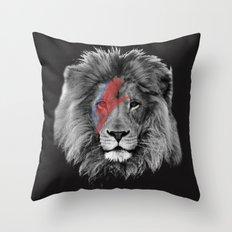 David Bowie Lion Throw Pillow
