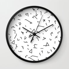 short lines Wall Clock