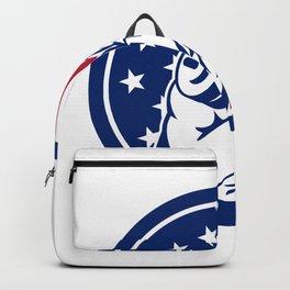 American Gym Circuit USA Flag Icon Backpack