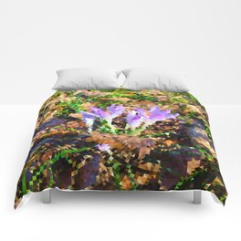 Signs of Spring - Crocus Low Poly Comforters