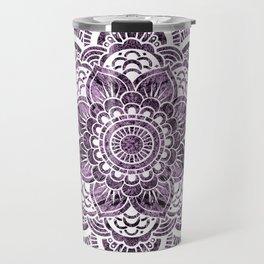 Mandala Grayish Purple Colorburst Travel Mug