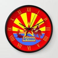arizona Wall Clocks featuring Arizona by Anfelmo