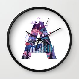 365 Days of Type Letter A Illustration Wall Clock