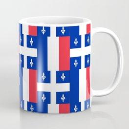 Mix of flag: France and Quebec Coffee Mug