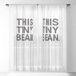 This Tiny Bean Logo Sheer Curtain
