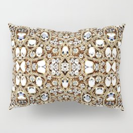 jewelry gemstone silver champagne gold crystal Pillow Sham