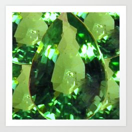 LIME GREEN PERIDOT GEMS AUGUST BIRTHSTONES Art Print