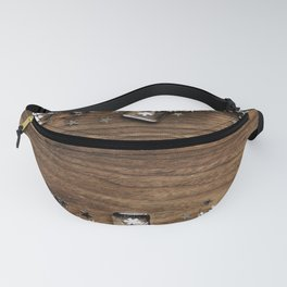 Christmas Winter Snowflakes Rustic Wooden Plank Fanny Pack