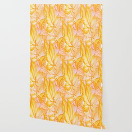 Soft Painterly Pastel Autumn Leaves Wallpaper