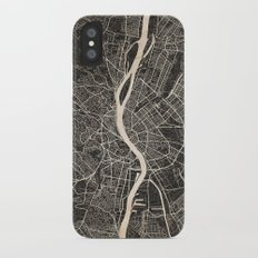 budapest map ink lines 2 Slim Case iPhone X