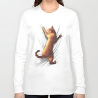gladiator Long Sleeve T-shirts featuring CAT by karakalemustadi
