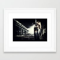 military Framed Art Prints featuring Military woman  by netfalls