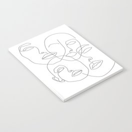 Messy Faces Notebook