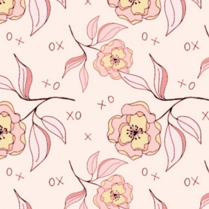 Pink Peony Kiss Floral Pattern Leggings