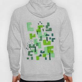 Colorful Green Minimalist Abstract Mid Century Modern Pattern Geometric Fun Art Hoody