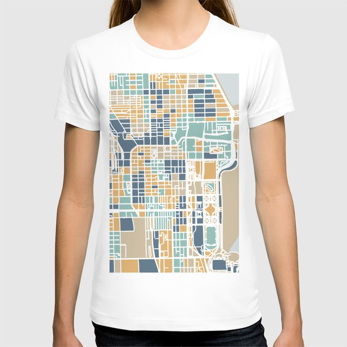 Chicago map T-shirt