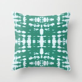 Kumo Jade Shibori Throw Pillow