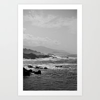 big sur Art Prints featuring Big Sur by Christoffer Eriksson