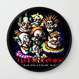 Clowns From Space Wall Clock