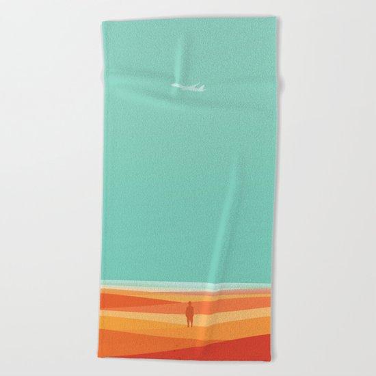 Where the sea meets the sky Beach Towel