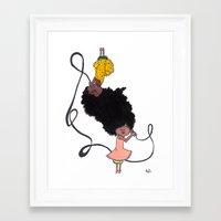 telephone Framed Art Prints featuring Telephone by Little Sketches by Raj D