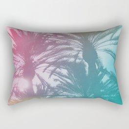 Rainbow Palm Trees Rectangular Pillow