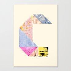 Collaged Tangram Alphabet - C Canvas Print