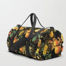 Vintage & Shabby Chic - Midnight Golden Apples Garden Duffle Bag