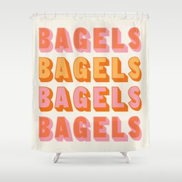 BAGELS BAGELS BAGELS Shower Curtain