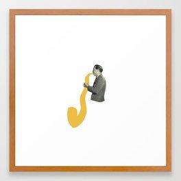 Saxy Framed Art Print
