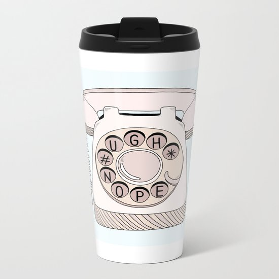 Phone Call Metal Travel Mug