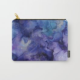Abstract Watercolor, Ink Prints, Indigo, Blue, Purple Carry-All Pouch