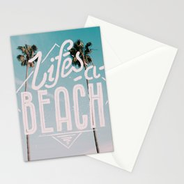 Lifes a beach #vintage Stationery Cards