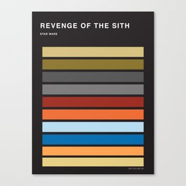 The colors of StarWars - Revenge of the sith episode 3 Canvas Print