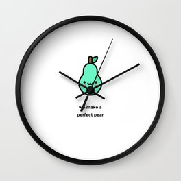 JUST A PUNNY PEAR JOKE! Wall Clock