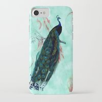peacock iPhone & iPod Cases featuring Peacock by SuzanneCarter