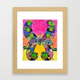 Rainbow Butterfly Intricate Framed Art Print