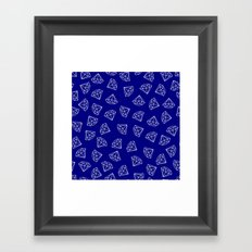 Navy Blue Diamond Pattern Framed Art Print