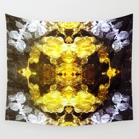 renaissance Wall Tapestries featuring GOLD RENAISSANCE by Chrisb Marquez