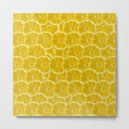 Lemon Pattern Metal Print