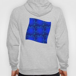 Sea explosive pattern of rhombuses and squares at the depth of the blue ocean. Hoody