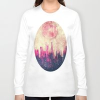 city Long Sleeve T-shirts featuring Mysterious city by SensualPatterns