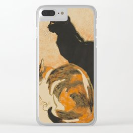 At the Bodiniere Théophile-Alexandre Steinlen 1894 Cat Ink Illustration Clear iPhone Case