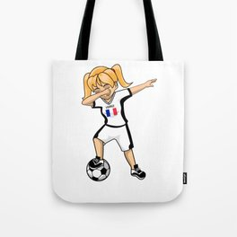 France National Soccer Cup Team Football Womens Girls Funny Dabbing Player World Tote Bag