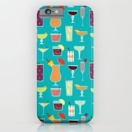 Retro Cocktails iPhone Case
