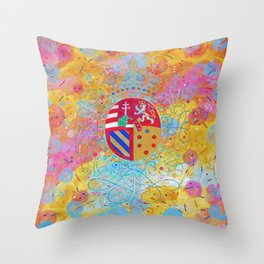 Arms of Marie Antoinette Throw Pillow