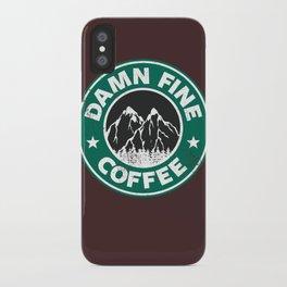 Damn Fine Coffee iPhone Case